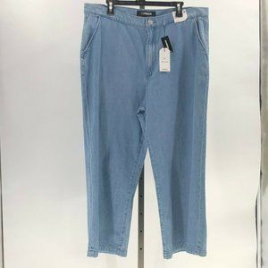 Express cropped wide leg super high rise jeans 16